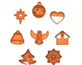 3D print model Cookie cutter pack - Christmas and New Year
