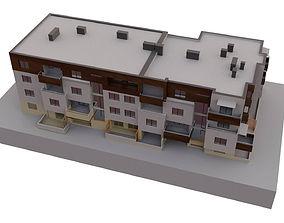 Modern block of flats 3D model