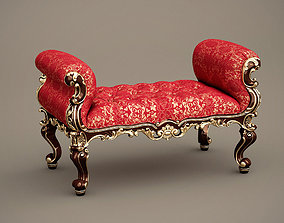 Fabulous and Baroque Banquette Absolom Roche Bench 3D 1
