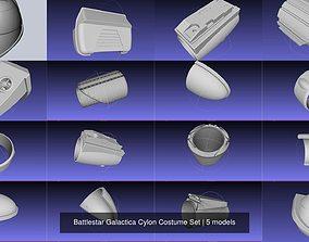 3D Battlestar Galactica Cylon Costume Set