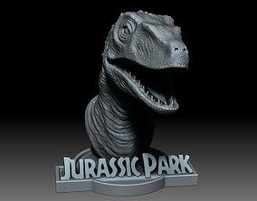 Pre-supported raptor 3D print model
