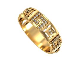3D printable model Ring Diamond geometry set