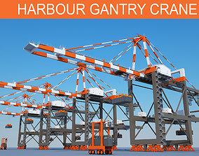 Harbour Cargo Crane 3D model