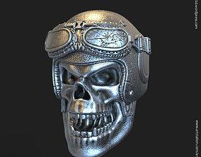 Biker helmet skull vol4 Pendant jewelry 3D print model