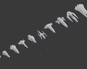 3D asset Spaceships Pack