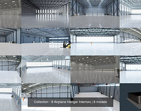 3D Collection - 8 Airplane Hangar Interiors