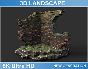Low poly Ruin Medieval Construction 07 2020 3D model