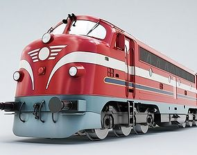 NoHAB M61 Locomotive Train Engine 3D model vehicle
