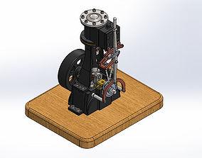 3D model Vertical Steam Engine