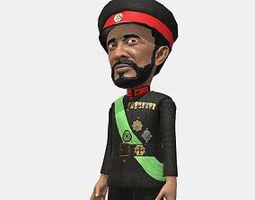 Emperor Haile Selassie caricature 3D model