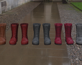Boots 3D model low-poly clothing