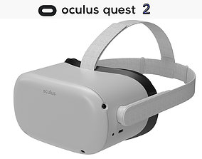 3D model Oculus Quest 2 VR Headset