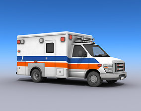 3D model realtime Ambulance Vehicle