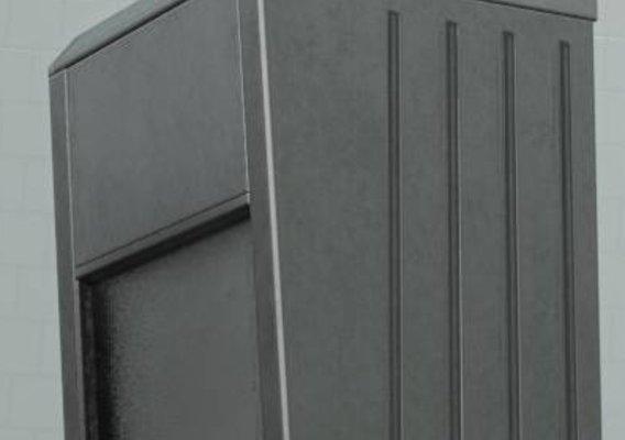 Public Metal Sink - 41 - with Mirror Low-poly (Blender-2.92 Eevee)