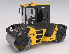 3D Volvo DD105 Road Roller Compactor