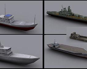 Military BattlesShip 3D asset realtime