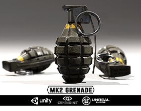 MK2 Grenade - Models and Textures game-ready