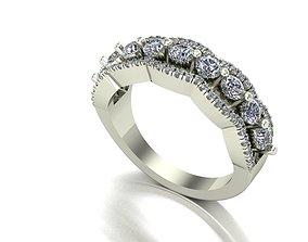 3D printable model rings Fancy wedding ring