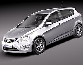 Hyundai Verna Accent 2012 Hatchback 3D Model
