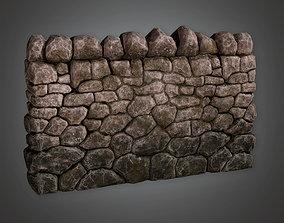 Outdoor Wall 03 GFS - PBR Game Ready 3D asset