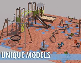 3D Modern playground 3