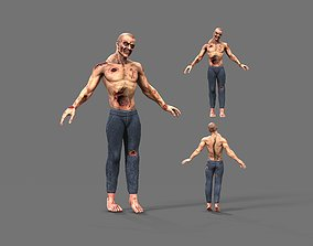 Zombie 3D model low-poly PBR