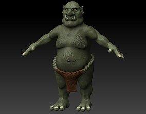 3D model Rigged ogre