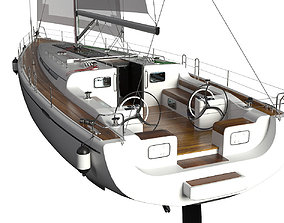 ship travel 3D model Yacht
