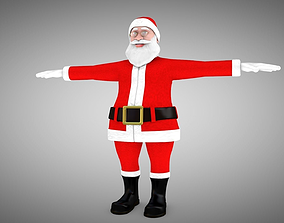 Santa Claus Rigged 3d Model and different Face rigged 1