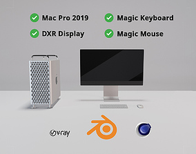 Apple Mac Pro 2019 And DXR Display and Magic Keyboard 3D 1