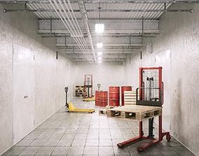 Underground Factory Corridor 3D model