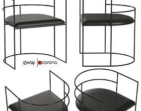 3D model J1 steel rod armchair