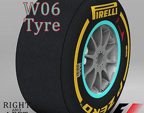 W06 Soft front tyre 3D asset