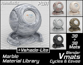 3D VMATS Marble Material Library for Blender Cycles and