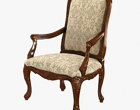 18th Century Louis XV Walnut Armchair 3D