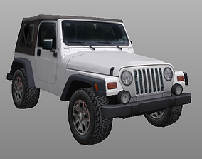 low-poly 97-06 Jeep Wrangler TJ lowpoly 3d model
