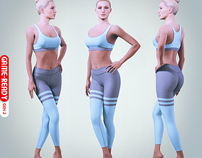 Female Character - Lea - Fitness 3D model