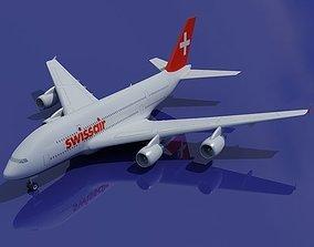 Swiss Air 3D Airbus A380