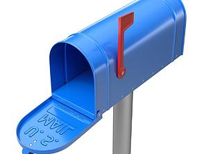 3D model Mailbox post