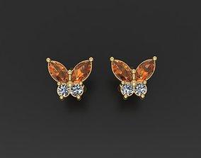 3D print model Butterfly Stud Earrings