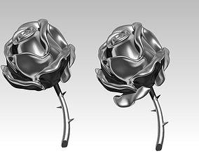 3D print model Rose two leaf version