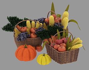 fruit and vegetable baskets 3D