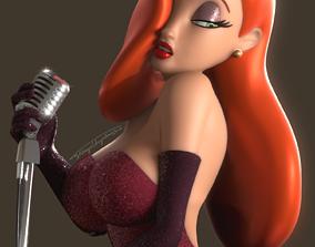 3D model Jessica Rabbit Rigged