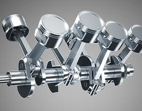3D Animated V8 Engine