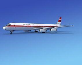 Douglas DC-8-63 Swissair 3D