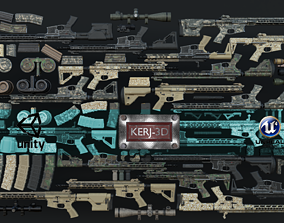 3D Modular Combat Rifle-All Variants