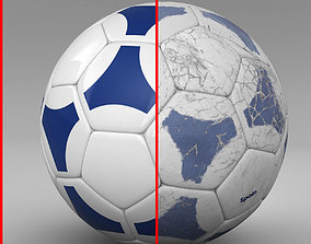 3D model Soccerball blue white