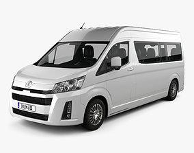 3D model Toyota Hiace Passenger Van L2H2 GL 2019