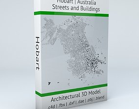 3D model Hobart Streets and Buildings