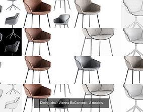 3D model Dining chair Vienna BoConcept